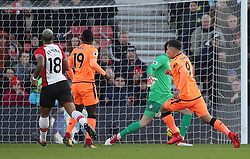 Liverpool's Roberto Firmino celebrates scoring the first goal of the game during the Premier League match at St Mary's Stadium, Southampton.