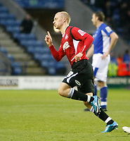 Photo: Steve Bond/Richard Lane Photography. Leicester City v Swansea City. FA Cup Third Round. 02/01/2010. David Cotterill turns to celebrate