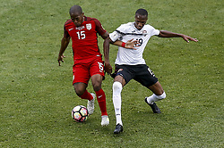 June 8, 2017 - Commerce City, Colorado, United States - Commerce City, CO - Thursday June 08, 2017: Darlington Nagbe and Kevan George during their 2018 FIFA World Cup Qualifying Final Round match versus Trinidad & Tobago at Dick's Sporting Goods Park. (Credit Image: © Timothy Nwachuku/ISIPhotos via ZUMA Wire)