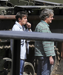 ©  licensed to London News Pictures. 01/07/2011. Gravesend, Kent. Richard Hammond smoking a cigarette. Top Gear presenters Jeremy Clarkson, James May and Richard Hammond smashing up old houses with tanks during filming for Top Gear today (01/07/2011). See special instructions. Photo credit Grant Falvey/LNP.