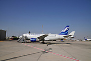 Israel, Ben-Gurion international Airport Finnair Airbus A319-112,
