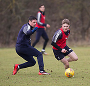 Dundee's Connor Coupe and Darren O&rsquo;Dea during Dundee FC training at the Michelin Grounds, Dundee<br /> <br /> <br />  - &copy; David Young - www.davidyoungphoto.co.uk - email: davidyoungphoto@gmail.com