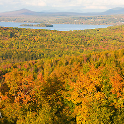 Rangeley Lake as seen from the Rangeley scenic overlook on Maine 17. Fall.