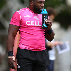 DURBAN, SOUTH AFRICA - MAY 15: Tendai Beast Mtawarira of the Cell C Sharks during the Cell C Sharks training session at Jonsson Kings Park on May 15, 2018 in Durban, South Africa. (Photo by Steve Haag/Gallo Images)