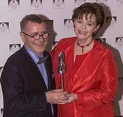 Rover British National Awards 2000, to close London Fashion Week, Natural History Museum ...Classic Design winner- Joseph Howell with Cherie Blair, February 18, 2000. Photo by Andrew Parsons / i-images..