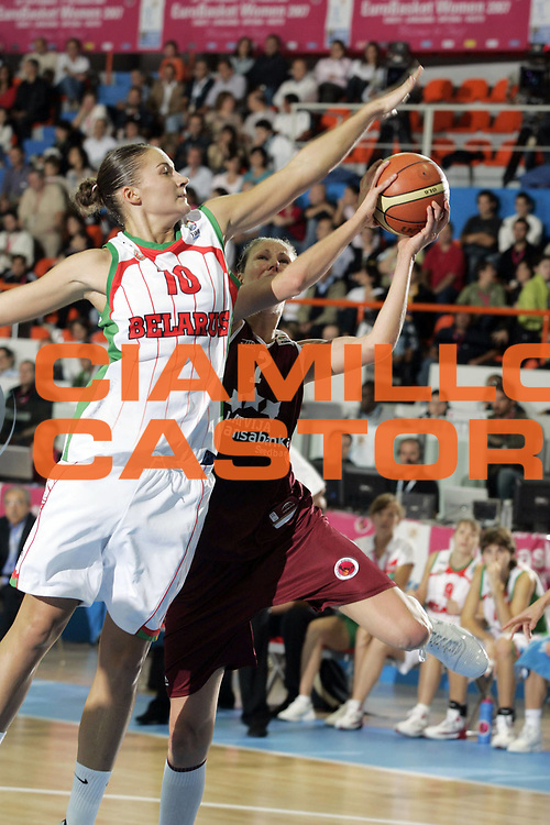 DESCRIZIONE : Chieti Italy Italia Eurobasket Women 2007 Final 3rd 4th Place Lettonia Bielorussia Latvia Belarus<br /> GIOCATORE :<br /> SQUADRA : Bielorussia Belarus Lettonia Latvia<br /> EVENTO : Eurobasket Women 2007 Campionati Europei Donne 2007 <br /> GARA : Lettonia Bielorussia Latvia Belarus<br /> DATA : 07/10/2007 <br /> CATEGORIA : Penetrazione Stoppata<br /> SPORT : Pallacanestro <br /> AUTORE : Agenzia Ciamillo-Castoria/H.Bellenger<br /> Galleria : Eurobasket Women 2007 <br /> Fotonotizia : Chieti Italy Italia Eurobasket Women 2007 Final 3rd 4th Place Lettonia Bielorussia Latvia Belarus<br /> Predefinita :