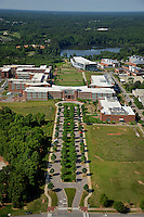 Aerial of Centennial Campus, looking southwest.