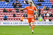 Leeds United goalkeeper Francisco Casilla (13) in action during the EFL Sky Bet Championship match between Wigan Athletic and Leeds United at the DW Stadium, Wigan, England on 17 August 2019.
