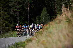 The bunch cross the gravel sector during Ladies Tour of Norway 2019 - Stage 4, a 154 km road race from Svinesund to Halden, Norway on August 25, 2019. Photo by Sean Robinson/velofocus.com