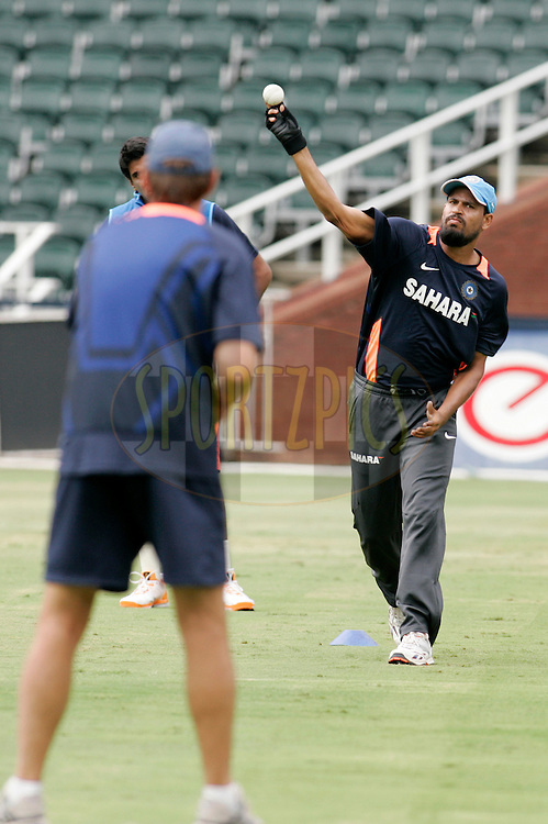 Indian player during the India team training session held at The Wanderers in Johannesburg, South Africa on the 14th January 2011..Photo by Abbey Sebetha/BCCI/SPORTZPICS