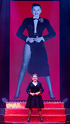 "© Licensed to London News Pictures. 17/06/2015. London, UK. Becky O_Brien performing. UK premiere of ""Judy - The Songbook of Judy Garland"" - a show celebrating the classic songs of Judy Garland - opens at the New Wimbledon Theatre, London before a UK tour. The show runs from 16 to 20 June 2015. Photo credit : Bettina Strenske/LNP"