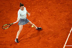 May 8, 2019 - Madrid, MADRID, SPAIN - Simona Halep (ROU) during the Mutua Madrid Open 2019 (ATP Masters 1000 and WTA Premier) tenis tournament at Caja Magica in Madrid, Spain, on May 08, 2019. (Credit Image: © AFP7 via ZUMA Wire)