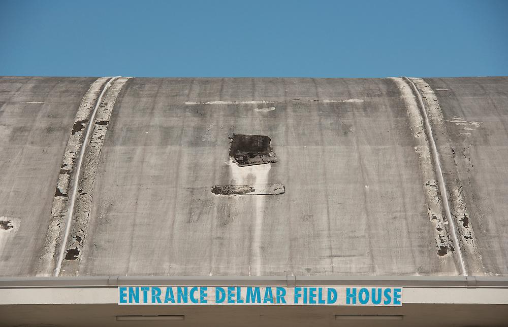Exterior views of Delmar Field House, October 25, 2013.