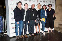 © Licensed to London News Pictures. 17/02/2016. CAST OF THIS IS ENGLAND TV who and director SHANE MEDOWS arrive at the NME Awards 2016 with Austin, Texas.  Previous winners of NME's Godlike Genius Award include Suede, Blondie, The Clash, Paul Weller, The Cure, Manic Street Preachers, New Order & Joy Division, Dave Grohl, Noel Gallagher and Johnny Marr.  London, UK. Photo credit: Ray Tang/LNP