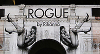 In anticipation of the launch of fragrance ROGUE by Rihanna, the superstar's ad campaign for her latest scent was projected across London's iconic landmark, Marble Arch, London UK, 09 September 2013, photo by Richard Goldschmidt