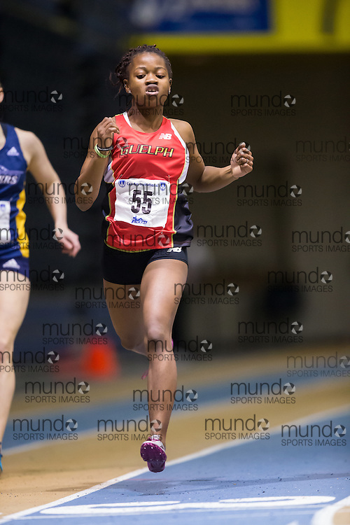 Marissa Kurtimah of the University of Guelph  competes at the 2014 CanAm Track and Field meet in Windsor Ontario, Saturday,  January 11, 2014.<br /> Mundo Sport Images/ Geoff Robins