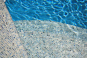 Mosiac Tile Swimming Pool Steps