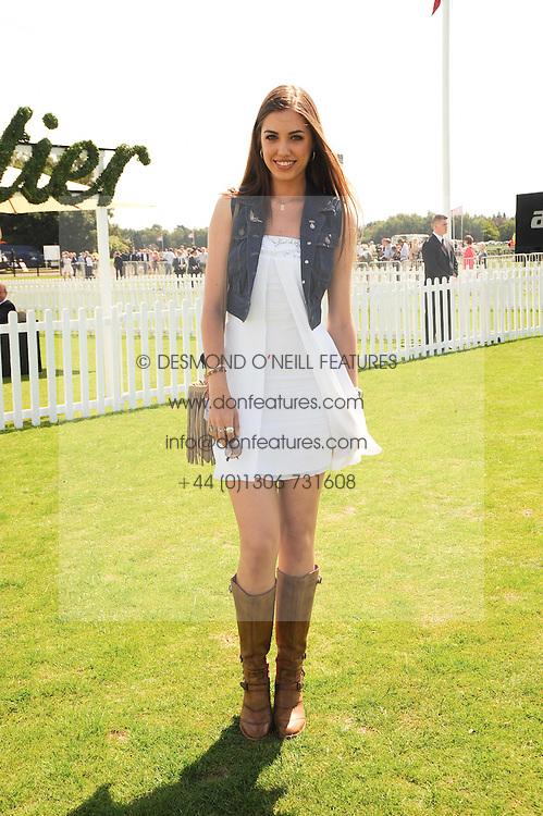 AMBER LE BON at the Cartier International Polo at Guards Polo Club, Windsor Great Park, Berkshire on 25th July 2010.