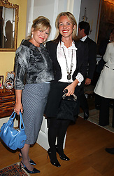 Left to right, MRS KAY SAATCHI former wife of Charles Saatchi and AMANDA ELIASCH  at a Conservative Party Reception for the Art held at 24 Thurloe Square, Lndon SW7 on 5th April 2005.<br /><br />NON EXCLUSIVE - WORLD RIGHTS