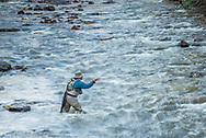 Dejon Hamann enjoys fly fishing the Frying Pan River near Basalt, Colorado.