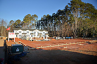 NC State's Build-A-Block Habitat for Humanity project under construction off Lake Wheeler Road.