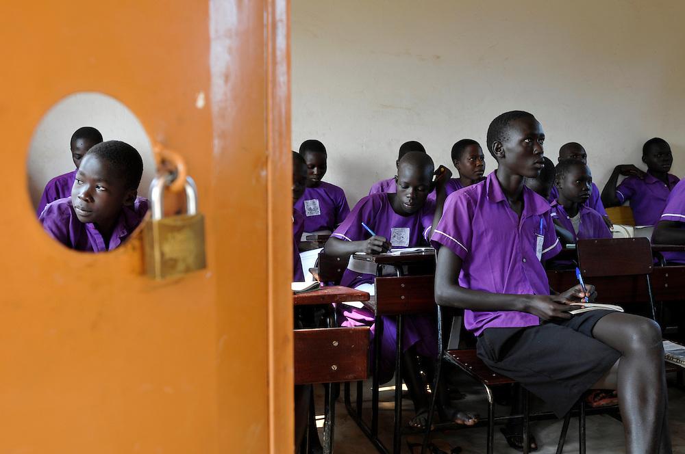 Students in a class at the Iriya Basic School..Iriya, South Sudan. 01/07/2011..Photo © J.B. Russell