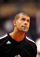 Nov. 17, 2012; Phoenix, AZ, USA; Miami Heat forward Shane Battier (31) reacts on the court prior to the game against the Phoenix Suns at US Airways Center. The Heat defeated the Suns 97-88. Mandatory Credit: Jennifer Stewart-US PRESSWIRE