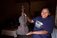 Original fiddle from the jeusits era conserved on Santa Ana de Velasco's museum.