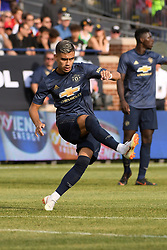 July 28, 2018 - Ann Arbor, MI, U.S. - ANN ARBOR, MI - JULY 28: Manchester United Midfielder Andreas Pereira (15) in action during the ICC soccer match between Manchester United FC and Liverpool FC on July 28, 2018 at Michigan Stadium in Ann Arbor, MI (Photo by Allan Dranberg/Icon Sportswire) (Credit Image: © Allan Dranberg/Icon SMI via ZUMA Press)