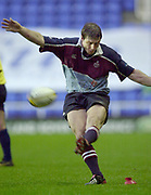Photo - Peter Spurrier.25/01/2003 .Powergen Cup Quarter final London Irish v Rotherham.Ramiro Pez