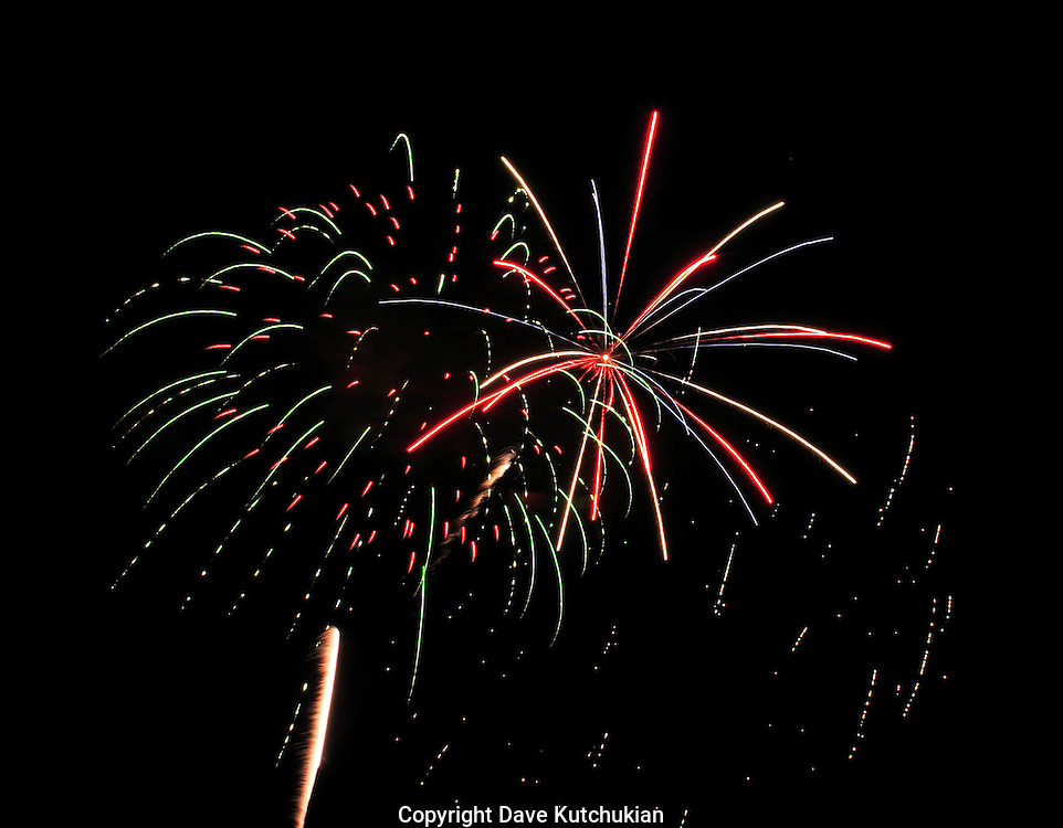 fireworks, star, bright colors,black background