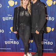 NLD/Amsterdams/20190326 - Filmpremiere Dumbo, Dave Dekker en partner Ginny Hamersma