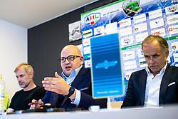 Head coach Ivo Jan, Miha Butara (president of HZ SZ Olimpija) and Joze Kovac at press conference of HK SZ Olimpija before new season 2020-21, on June 22, 2020 in Hala Tivoli, Ljubljana, Slovenia. Photo by Matic Klansek Velej / Sportida