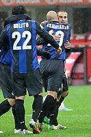 """Esultanza di Rodrigo Palacio Inter<br /> Goal celebration<br /> Milano 31/10/2012 Stadio """"S.Siro""""<br /> Football Calcio Serie A 2012/13<br /> Inter v Sampdoria<br /> Foto Insidefoto Paolo Nucci"""