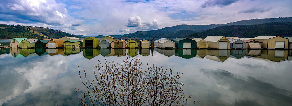 Boat Houses in Heyburn State Park, Idaho.