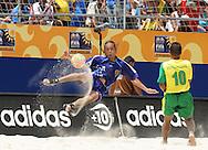 Footbal-FIFA Beach Soccer World Cup 2006 -  Oficial Games BRA x JPN -Yamada and Benjamin- Brazil - 05/11/2006.<br />Mandatory Credit: FIFA/Ricardo Ayres