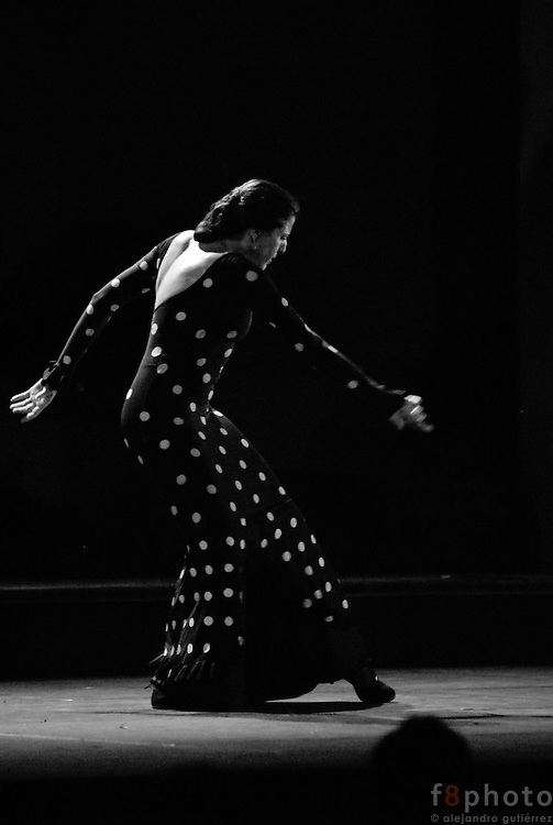 The spanish dancer María Pagés during a performance in the First Dance Festival Ibérica Contemporánea, Querétaro, México, 2007