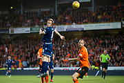 30th August 2019; Dens Park, Dundee, Scotland; Scottish Championship, Dundee Football Club versus Dundee United; Danny Johnson of Dundee and Mark Reynolds of Dundee United