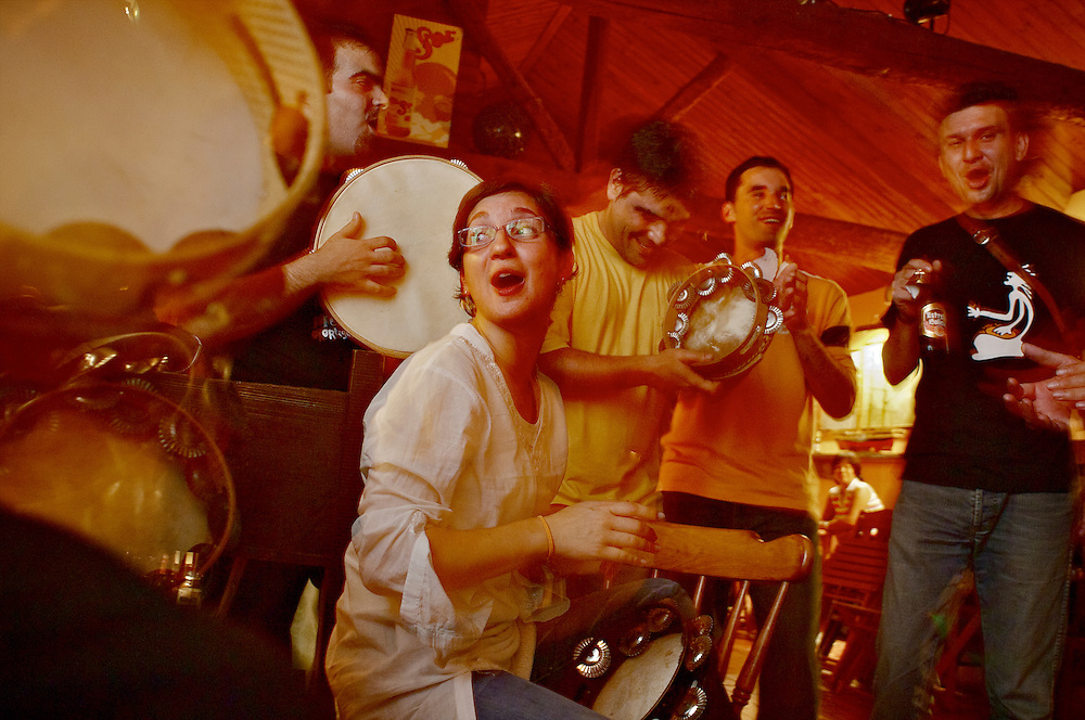 The Bar de Fredi in Espasante, Galicia is a popular spot for Celtic music.  The tavern opens at 11:00 pm and things get going about 1:00 am when the pipers arrive.  Music goes on till 5:00 am, finishing up with traditional hill singing, men and women echoing choruses back and forth.  A wild night.