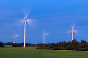 Wind turbine farm<br /> West Cape<br /> Prince Edward Island <br /> Canada