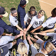 Goldey-Beacom huddle together prior to the first inning of a NCAA Central Atlantic Collegiate Conference game against Nyack College Saturday, April 19, 2014, at Nancy Churchmann Sawin Athletic Field in Wilmington Delaware.<br /> <br /> Goldey-Beacom defeats Nyack College 10-5 in Game 1<br /> <br /> Nyack College defeats Goldey-Beacom 1-0 in Game #2