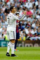 """Spanish  League""- match Real Madrid Vs FC Barcelona- season 2014-15 - Santiago Bernabeu Stadium - Cristiano Ronaldo (Real Madrid) Celebrates a goal during the Spanish League match against FC Barcelona(Photo: Guillermo Martinez / Bohza Press / Alter Photos)"