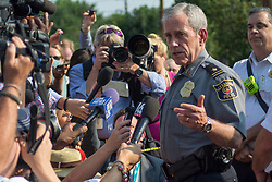 June 14, 2017 - Alexandria Police Chief, Michael Brown, gives an upodate to the media after the shooting in a baseball field where Republican members of Congress were practising for a charity game. (Credit Image: © Dimitrios Manis via ZUMA Wire)