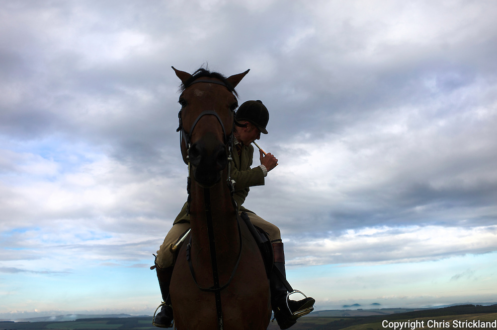 Autumn hunting in the Scottish Borders with the Jedforest Hunt.