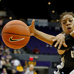 November 16, 2011; Baton Rouge, LA; Georgetown Hoyas forward Adria Crawford (5) fouls LSU Tigers forward Taylor Turnbow (35) during the second half of a game at the Pete Maravich Assembly Center. LSU defeated Georgetown 51-40. Mandatory Credit: Derick E. Hingle-US PRESSWIRE