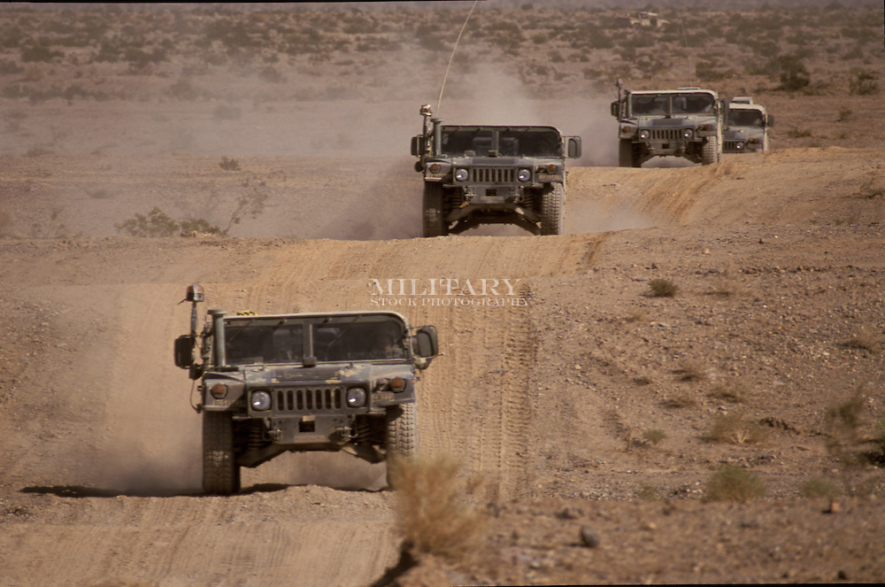 "HMMWV or ""Humvee"" manufactured by AM General.  Common variants include M998, M1114, M707, and many others.  Credit Hans Halberstadt.  Reproduction requires license."
