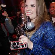 NLD/Hilversum/20120120 - Finale the Voice of Holland 2012, winnares Iris Kroes