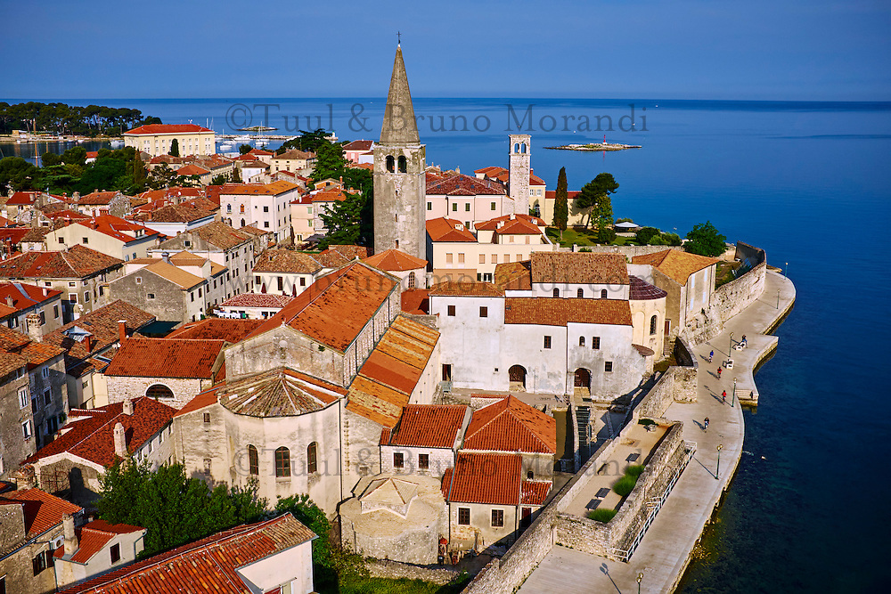 Croatie, Istrie, côte Adriatique, le village de Porec, la basilique Euphrasius, ensemble épiscopal de la basilique euphrasienne dans le centre historique classé Patrimoine Mondial de l'UNESCO // Croatia, Adriatic coast, Istria, village of Porec, Euphrasian Basilica, world heritage of the UNESCO
