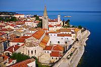 Croatie, Istrie, côte Adriatique, le village de Porec, la basilique Euphrasius, ensemble épiscopal de la basilique euphrasienne dans le centre historique classé Patrimoine Mondial de l'UNESCO // Croatia, Adriatic coast, Istria, village of Porec, Euphrasian Basilica, world heritage of the UNESCO
