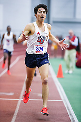 ECAC/IC4A Track and Field Indoor Championships<br /> 3000 meters, Liberty, Nick Doan